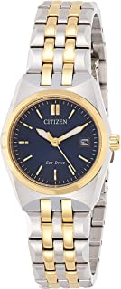 CITIZEN Womens Solar Powered Watch, Analog Display and Stainless Steel Strap