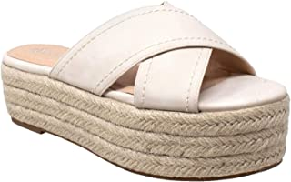 Womens Platform Sandals Wedge Flatform Slides Criss Cross Strap Espadrilles