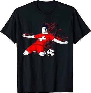 Switzerland National Soccer Team Jersey Swiss Football Lover T-Shirt