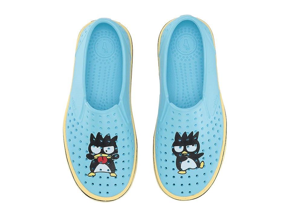 Native Kids Shoes Miles Print (Little Kid/Big Kid) (Hamachi Blue/Gone Bananas Yellow/Batz) Kids Shoes