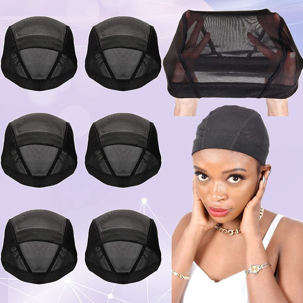 6 PACK Wig Caps for Rare Making Dome Mesh - Spandex Limited time trial price W Stretchable