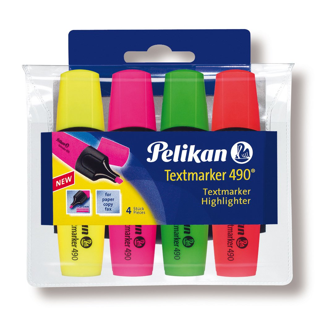 Pelikan 943324 - Pack de 4 marcadores, multicolor: Amazon.es: Oficina y papelería