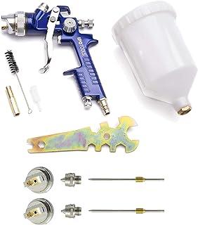 comprar comparacion Pistola Pintura HVLP H-827P - sistema profesional de pintura con vaso de plástico de 600 ml y boquilla de acero inoxidable...