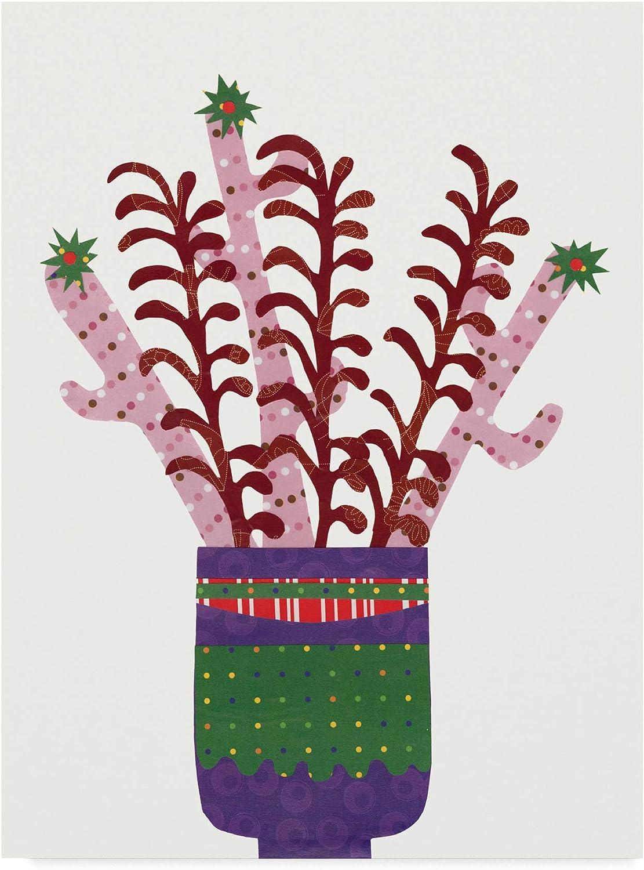 Trademark Fine Art Cheerful Succulent II by Regina Moore, 14x19