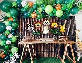 Jungle Theme for Birthday Party Decorations, Safari Theme, 120 Pcs Balloon Garland Arch Kit by ZINGOORIA