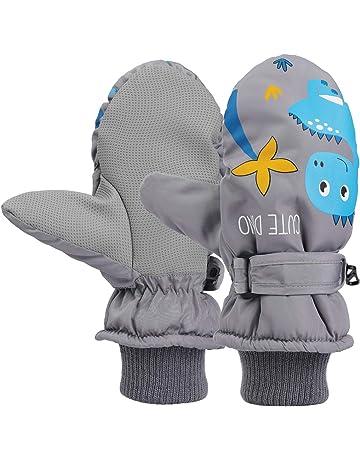 Itoda bambini guanti da sci impermeabili inverno caldo guanti antivento traspirante guanti da sci da neve muffole da sci snowboard isolamento termico per sci ciclismo pattinaggio e altri sport invernali