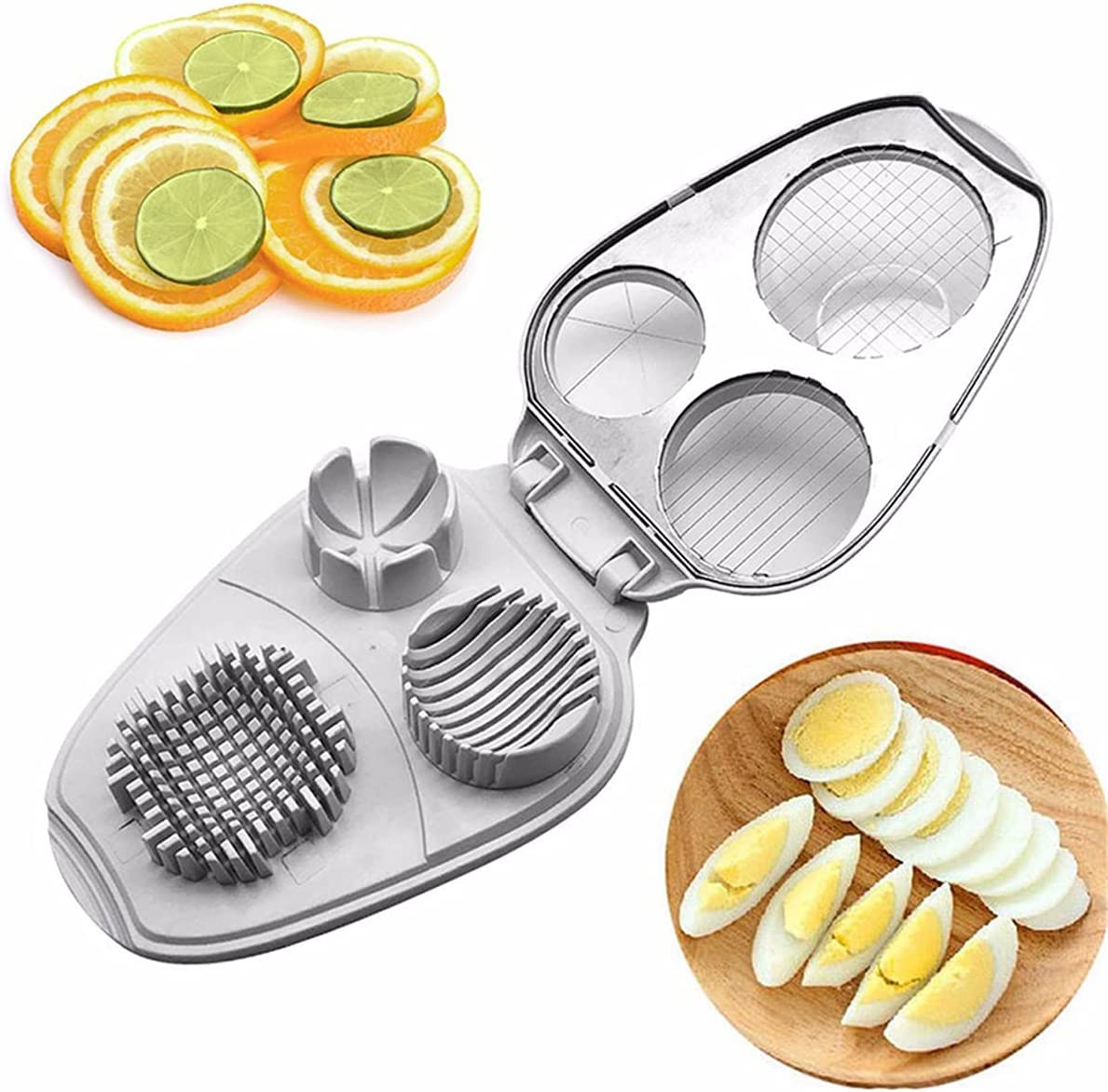 HARTI Multifunctional Egg Cutter Slicer Petal San Francisco Mall Max 48% OFF 3-in-1