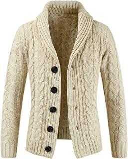 Howely Men's Sweater Button-Up Shawl Collar Essential Premium Cardigan