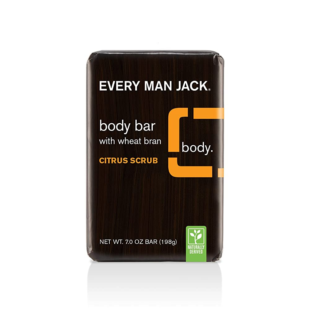 狂人ゲームきつく海外直送品Body Bar Soap, Citrus Scrub 7 oz by Every Man Jack
