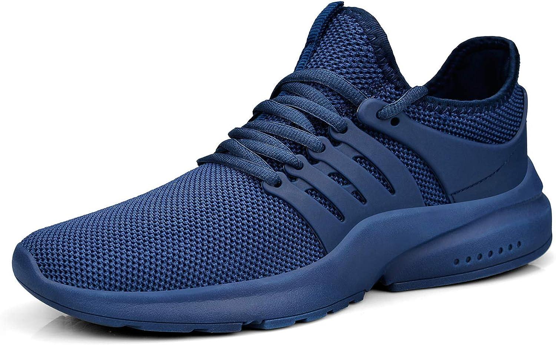 QANSI shoes Women Lightweight Tennis Running Sport Sneakers bluee Size 8