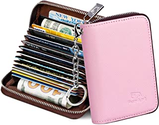 Credit Card Wallet, Zipper Card Cases Holder for Men...