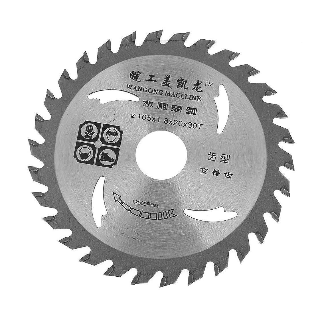 105ミリメートル×20ミリメートル×1.8ミリメートル30歯型超硬合金切削丸鋸刃ロータリー工具木材切断のためのディスクを切断する