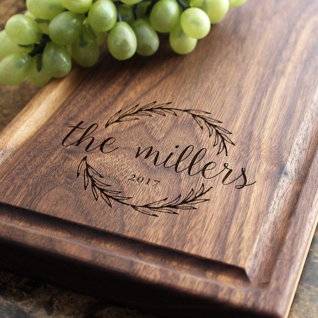 Custom Engraved Monogrammed Cheese San Jose Mall Board Quality inspection Couples Design We - for