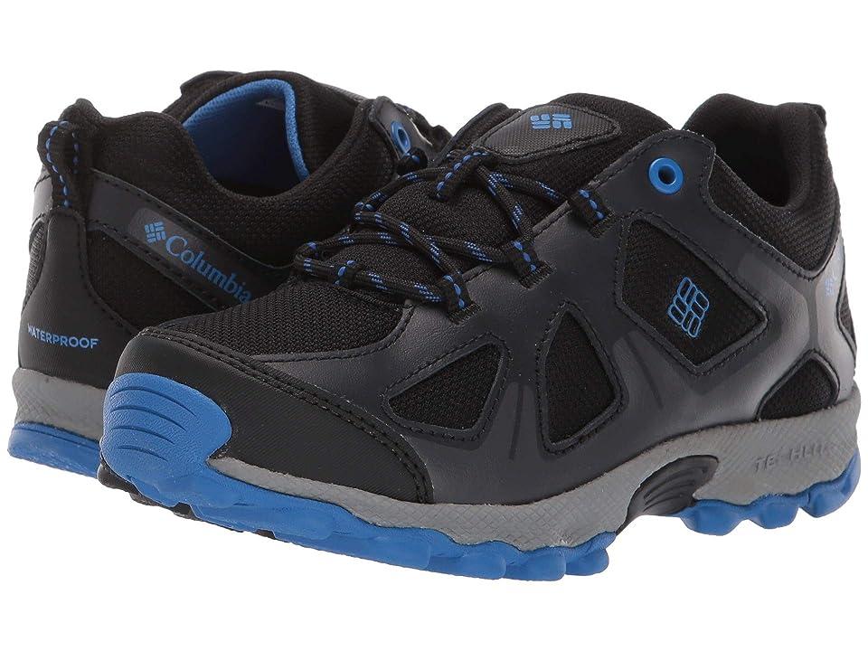 Columbia Kids PeakFreaktm Xcrsn Waterproof (Little Kid/Big Kid) (Black/Stormy Blue) Boys Shoes