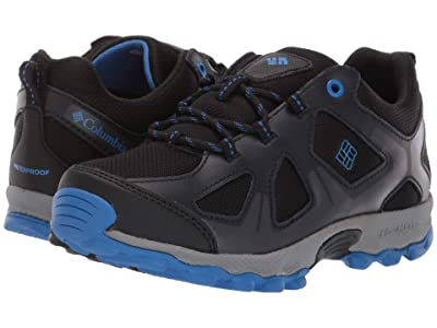Columbia Kids PeakFreaktm Xcrsn Waterproof (Little Kid/Big Kid) (Black/Stormy Blue) Boys Shoes