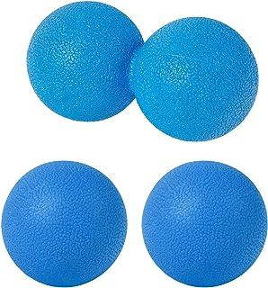 sac taske マッサージボール ストレッチ ピーナッツ ツボ押し トリガーポイント 3個セット (ブルー)
