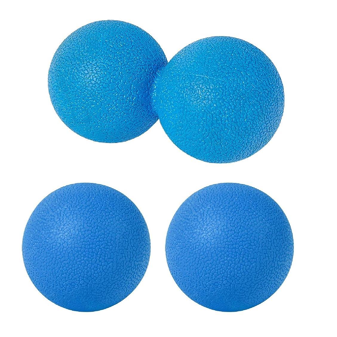 止まる写真を撮る全体sac taske マッサージボール ストレッチ ピーナッツ ツボ押し トリガーポイント 3個セット (ブルー)