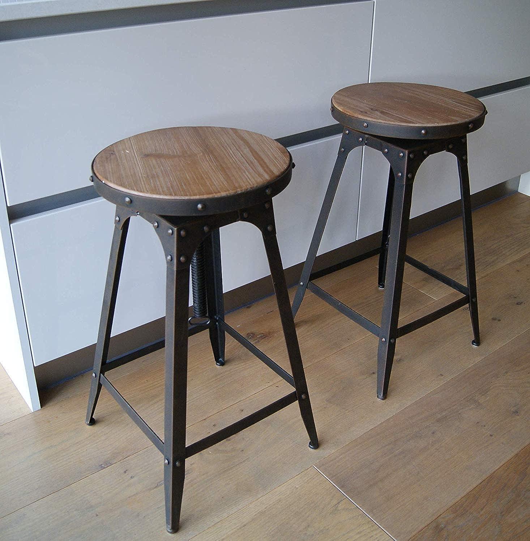 Steel Magnolias Stuhl im Café-Stil, hhenverstellbar, Vintage-Optik, rustikal