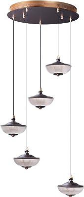 ET2 E23153-126BRZGLD Bella Pendant, 5-Light LED 20 Total Watts, Bronze/Gold