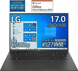 【MS Office搭載】LG ノートパソコン gram 1350g/バッテリー最大27時間/Core i7/17インチ WQXGA(2560×1600)/メモリ 16GB/SSD 1TB/Thunderbolt4/ブラック/17Z90P-KA...