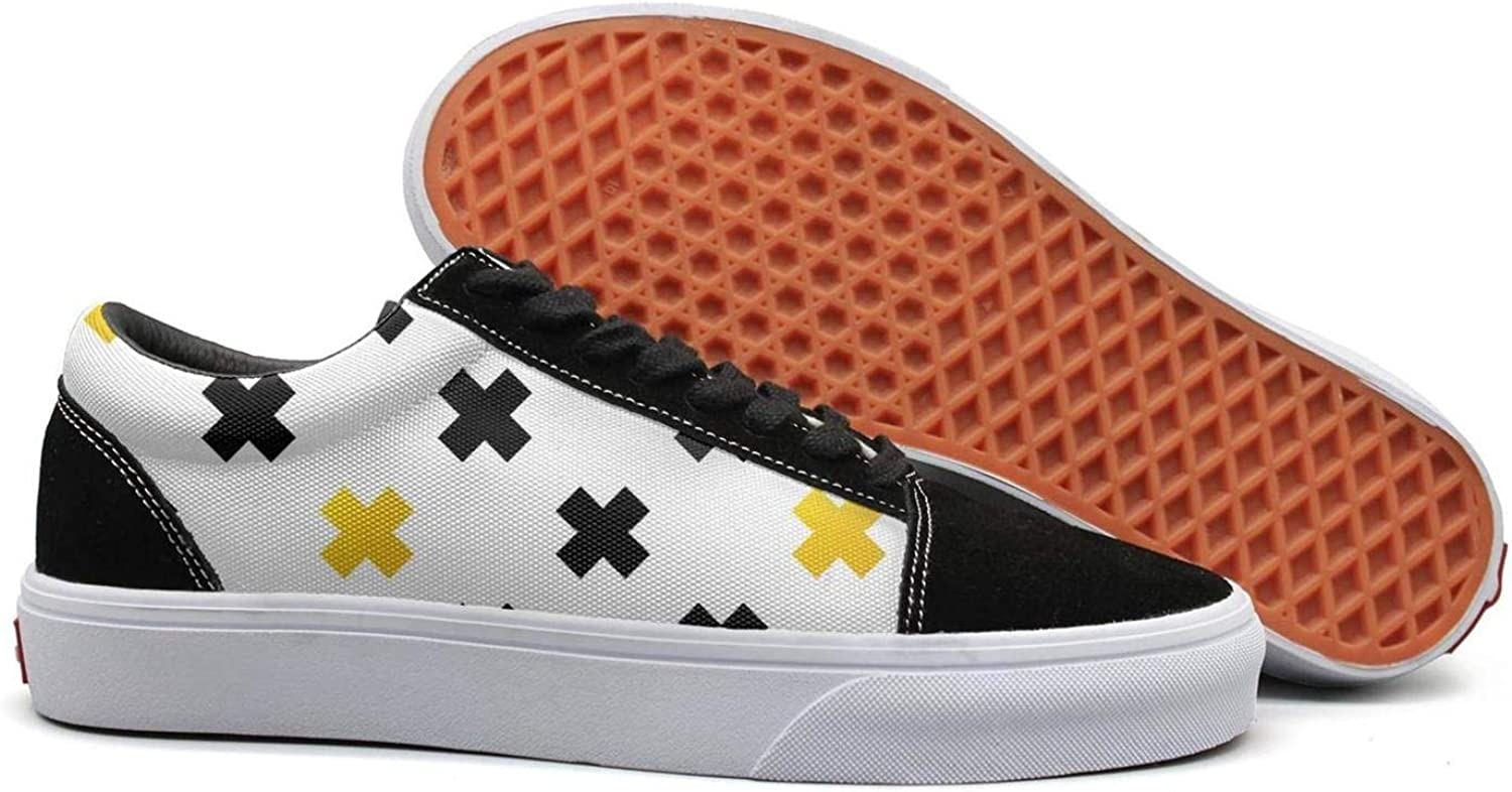Wuixkas Black and gold Baptism Crosses Geometric Womens Canvas Upper Sneakers Popular Loafer Canvas shoes