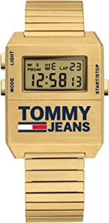 Tommy Hilfiger Yellow Dial Ionic Thin Gold Plated Stainless Steel Watch For Men