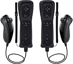 $34 » Wii Remote Controller and Nunchuck 2 Pack Compatible with Nintendo Wii/Wii U with Silicone Case and Wrist Strap(Not Motion...
