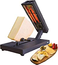 Appareil à raclette pour 8 personnes pour une pièce entière de fromage, appareil à fondre (fondue au fromage, 400 W, haute...
