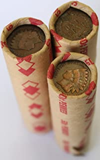 Unsearched Wheat Penny Shot Gun Roll w/ Indian Head Cent Ends Old Us Coin Shotgun Lot