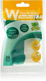 Pearlie White Flosspicks, 24 Count