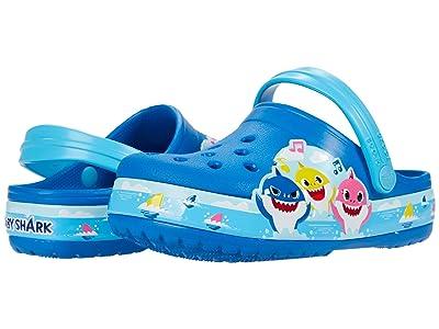 Crocs Kids Fun Lab Baby Shark Band Clog (Toddler/Little Kid) (Bright Cobalt) Kid