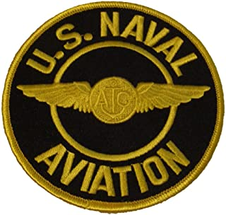 U.S. NAVAL AVIATION with AIR CREW WINGS ROUND PATCH - Great Color - Veteran Owned Business
