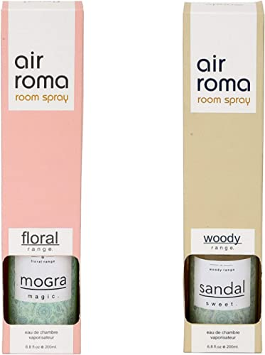 AirRoma Combo of 2 Magic Mogra & Sweet Sandal Air Fresheners Sprays 200ml