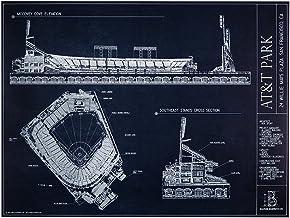 AT&T Park Blueprint Style Print