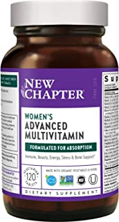 New Chapter Women's Multivitamin + Immune Support, Women's Advanced Multi (Formerly Every Woman) Fermented with Whole-Food...