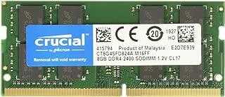 Crucial 8GB Single DDR4 2400 MT/s (PC4-19200) DR x8 SODIMM 260-Pin Memory - CT8G4SFD824A