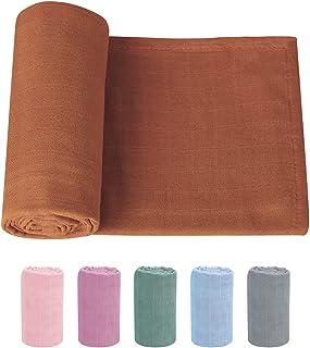 Knirose Newborn Baby Swaddle Blanket Unisex Swaddle Wrap Soft Silky Bamboo Muslin Swaddle Blankets Neutral Receiving Blank...