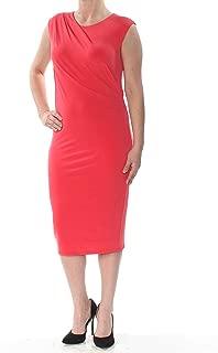 Women's Draped Cap-Sleeve Dress