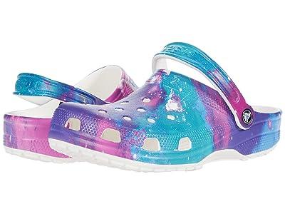 Crocs Classic Clog Seasonal Graphic (White/Purple) Clog Shoes