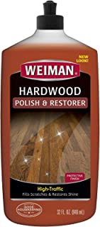 Weiman Wood Floor Polish and Restorer - 32 Ounce - High-Traffic Hardwood Floor, Natural Shine, Removes Scratches, Leaves P...