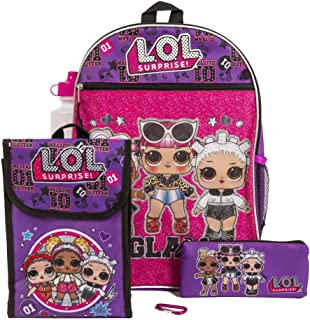 "LOL Surprise Purple Back too School Essentials Set for Girls, Purple, Size 16"""