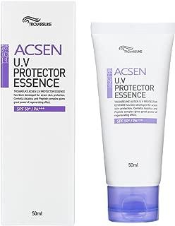 TROIAREUKE ACSEN UV Protector Sun Essence 1.69 Ounce, SPF50+ PA+++ Daily Facial Safe Sunblock Sunscreen Lotion Oil Free for Sensitive Acne Skin Moisturizer