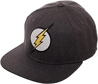 Bioworld DC Comics Flash Logo Flatbill Flex Cap Black