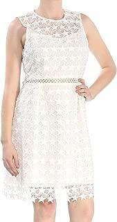 Maison Jules Womens Lace Fit & Flare Mini Dress