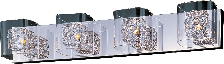 ET2 E22834-18PCPC Gem Modern Clear Cubes Metal Bath Courier Save money shipping free Vani Crystal