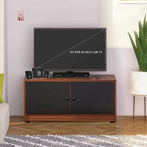 Klaxon Fostos TV Unit Asian Walnut Black 100cm 40cm 45cm