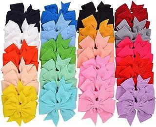 40pcs 3.5 pulgadas Baby Girls Hair Bows Pinzas de cocodrilo Nylon Pinwheel Hair Barrettes para bebés Niños Niños pequeños ...