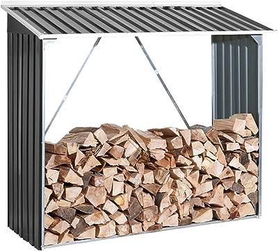 Duramax Leñero Exterior metálico Medidas 73, 5x182x160 cm, Gris ...