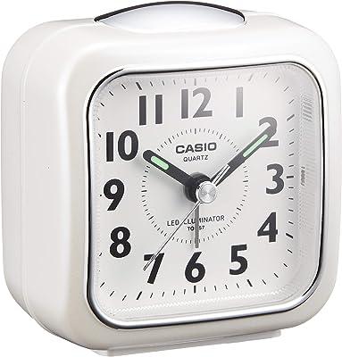 CASIO(カシオ) 目覚まし時計 ホワイト 7.6×7.3cm アナログ ミニサイズ ライト 付き TQ-157-7BJF 7.6×7.3×4.9cm