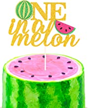 One in a Melon Cake Topper 1st Birthday Party Decor Watermelon Themed Kids Party Supplies